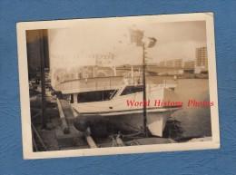 Photo ancienne - ROUEN - Beau bateau du Rouen Yacht Club - RARE