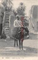 ALGERIE - BISKRA - Arabe Et Son âne -  2 Photos -  Dos Vierge - Biskra