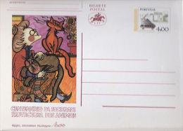 Portugal Entier Postal Centenaire De La SPA - Domestic Cats