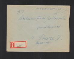 Czechoslovakia Registered Cover 1945 Atec To Prague - Briefe U. Dokumente