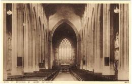 Bury St Edmunds, St james Cathedral (interior) black & white postcard unused