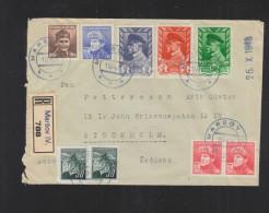 Czechoslovakia Registered Cover 1945 Marsov To Sweden - Briefe U. Dokumente