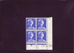 N° 1011B - 20F MULLER - AD De AC+AD - 1° Tirage/3° Partie Du 31.1.58 Au 14.3.58 - 20.02.1958 - - 1950-1959