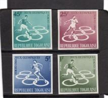 Togo:jeux Olympiques De Tokio .Série De 4 Val N° 425** à428** Non Dentelés - Summer 1964: Tokyo