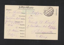 Feldpostkarte 1915 Namur Nach Philippeville - Weltkrieg 1914-18