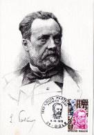 Carte Maximum Louis Pasteur Ob PJ Du 6.10.73 à DOLE (39) - Louis Pasteur