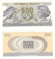 500 Lire Aretusa Viaggio Gubbio Maresca Decr 23 02 1970 - [ 2] 1946-… Republik