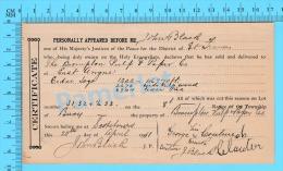 Afidavit Certificat  1911, Vente De Bois Par George L Couture Bury à  Brompton Pulp & Paper East Angus P. Quebec ) - Canada