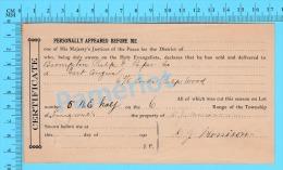 Afidavit Certificat Cir 1911, Vente De Bois Par D. J. Morrison à  Brompton Pulp & Paper East Angus P. Quebec ) - Canada