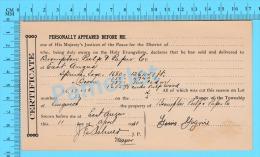 Afidavit Certificat 1911, Vente De Bois Par Louis Gagné Lingwick à  Brompton Pulp & Paper East Angus P. Quebec ) - Canada