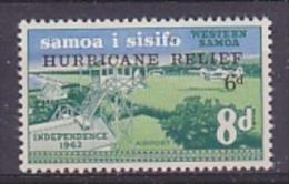 Samoa 1966 Hurricane Relief 1v ** Mnh (21165A) - Samoa