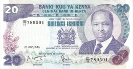 BILLETE DE KENIA DE 20 SHILINGI DEL AÑO 1984 (BANK NOTE) - Kenia