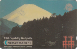 UK(GPT) - Volcano, Mount Fiji(MER129), Mercury Telecard, CN : 20MERB, Tirage %5269, Mint - Volcans