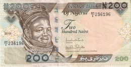 BILLETE DE NIGERIA DE 200 NAIRA DEL AÑO 2010 (BANKNOTE-BANK NOTE) VACA-COW - Nigeria