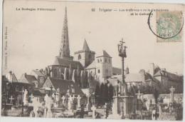 CPA 22 TREGUIER Les Trois Tours De La Cathédrale - Tréguier