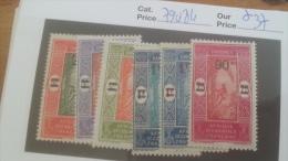 LOT 254367 TIMBRE DE COLONIE DAHOMEY NEUF* N�79 A 84 VALEUR 37 EUROS