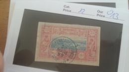 LOT 254427 TIMBRE DE COLONIE COTE SOMALIS OBLITERE N�12 VALEUR 13 EUROS
