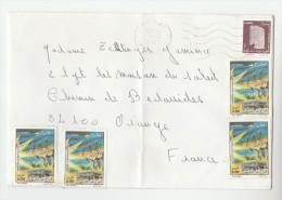 2001 ALGERIA COVER Stamps 4x 5.00 MOUDJAHID To  GB - Algeria (1962-...)