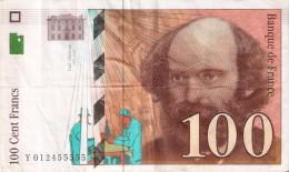 BILLETE DE FRANCIA DE 100 FRANCOS DEL AÑO 1997 DE CEZANNE SERIE Y  (BANKNOTE) - 1992-2000 Ultima Gama