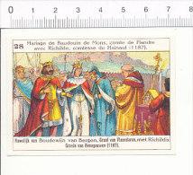 Image / Mariage De Baudouin De Mons Avec Richilde Comtesse Du Hainaut / Histoire Belgique Moyen-âge   / IM 166/4 - Autres