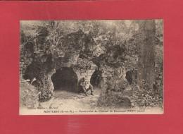 *  CPA..dépt 77..MORTCERF  :  Souterrains Du Château De Bécoisseau   : Voir Les 2 Scans - Autres Communes