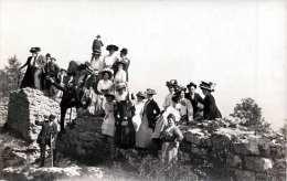 Ausflugsgruppe, Frauen Mit Schönen Hüten, Männer, Fotokarte Um 1910 - Fotografie