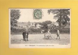 *  CPA..dépt 77..MORTCERF  :  Vue Panoramique , Prise De La Gare   : Voir Les 2 Scans - Autres Communes