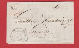 Facture  // De Gray //  Pour Langres  // 1 Octobre 1844 - Marcophilie (Lettres)