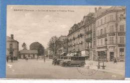 90 BELFORT LA COUR DE LA GARE VOITURES ECRITE 2 SCANS - Belfort - Ville