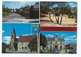 CP MULTIVUES AUFFARGIS, LES MAISONS DE FRANCE, LA SABLIERE, L´EGLISE ET LA POSTE, LA MAIRIE, YVELINES 78 - Auffargis