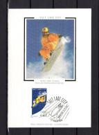 """FRANCE 2002 : Carte Maximum En Soie N° YT 3460 """" J.O. DE SALT LAKE CITY / SNOWBOARD """". Parfait état. CM - Winter 2002: Salt Lake City"""