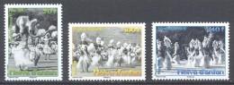 Polynésie Française YT N°872/874 Heiva D'antan Neuf ** - French Polynesia
