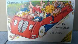 FRANCE / CARTE A SYSTEME / EN ROUTE POUR LA FLECHE /1957 - A Systèmes