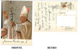 CARTOLINA COLORI LAZIO ROMA – PAPA GIOVANNI PAOLO II VIAGGIATA 1979 DA ROMA VERSO MILANO – INDIRIZZO OSCURATO PER PRIVAC - Altri