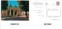 CARTOLINA COLORI LAZIO FIUGGI FONTE – FONTE BONIFACIO VIII – INGRESSO CENTRALE VIAGGIATA 1970 VERSO MILANO – INDIRIZZO O - Altre Città