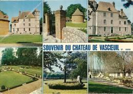 27. CPM. Eure. Château De Vascoeuil. Cour D'Honneur Et Colombier, Murs En Damiers Et Grille 6 Vues) - Other Municipalities