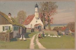 Paul Hey   Ganzen  Kerk           Nr 2070 - Animaux & Faune