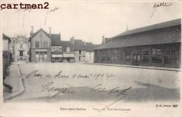 BAR-SUR-SEINE PLACE DU MARCHE COUVERT 10 AUBE 1900 - Bar-sur-Seine