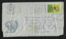 Tanzania AIr Mail Postal Used Aerogramme Cover Tanzania To Pakistan  Birds Animal  AS PER SCAN - Tanzania (1964-...)