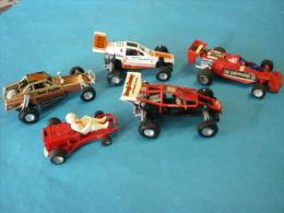 LOT De 5 VOITURES Dont 1 KART (voir 2 Photos Et Descriptif ) - Toy Memorabilia