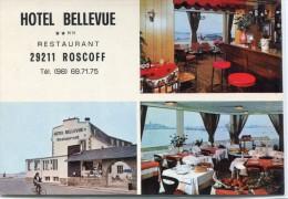 CARTE DE VISITE 29  ROSCOFF HOTEL BELLEVUE  Grand Format 15 X 10,5 Cm - Cartes De Visite