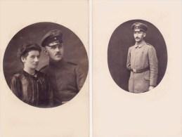 Armée Allemande Guerre 14/18 Soldats Allemands  Réunion De 2 Cartes - Guerre 1914-18