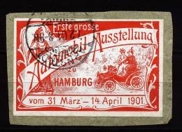 A3100) Vignette Erste Automobilausstellung Hamburg 1901 - Erinnophilie