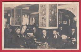 """168957 /  Vienna Wien - CAFE """" JAGERZEILE """" 1934 INTERIOR , NEWSPAPER - Austria Österreich Autriche - Unclassified"""