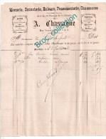 A. Chassagne, Mercerie, Bonneterie, Rubans, Chaussures, Montluçon, Rue Notre-Dame, Facture 1898 - France