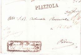 Lombardo-Veneto - Lettre De PIAZZOLA ( Voll. N°1 ) Pour Padova - 1. ...-1850 Prefilatelia