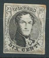 """Belgique - 1851 L�opold 1e - 10 cent brun """"M�daillons � filigrane simple"""" COB N�6 * (avec certificat W.Balasse)"""