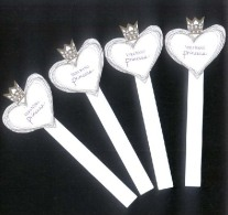 4 X Singapore Perfume Cards Cartes Parfumees --  VERA WANG PRINCESS - Modern (from 1961)