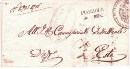 Lombardo-Veneto -1851 - Lettre De PIAZZOLA / 4 NOV. ( Voll. N°2 ) Pour Este - 1. ...-1850 Prefilatelia