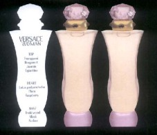 3 X Singapore Perfume Cards Cartes Parfumees --  VERSACE WOMAN - Perfume Cards